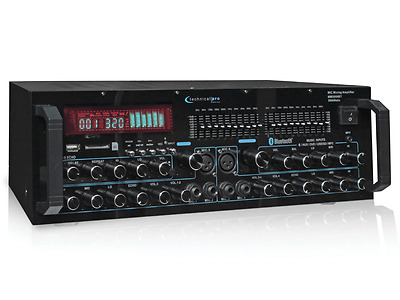 Technical Pro MM2000BT Mic Mixing Amplifier w/  USB/SD Card/Record & Bluetooth