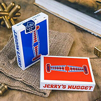 2 Deck set Jerry's Nuggets Playing Cards Red and Blue (Modern Feel)