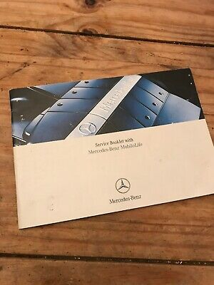 Mercedes Service History Book Used 5 Stamps S Class