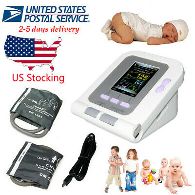 FDA 08A LED Digital Blood Pressure Monitor Heart Beat NIBP Infant Pediatric Cuff