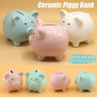 Piggy Bank Ceramic Coin Money Saving Box Cash Storage Kids Gift Keepsake  !