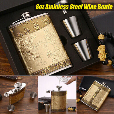 D407 Creative Bracelet Bangle Hip Flask Funnel Kit Container Liquor Whiskey Outd