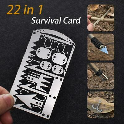 Camping Survival MultiTool Card Wilderness Survival Gear Acc for Hunting Hiking
