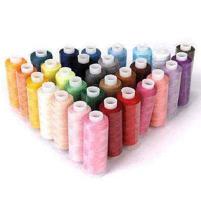 30 Colour Spools Finest Quality Sewing All Purpose 100% Pure Cotton Thread Reel
