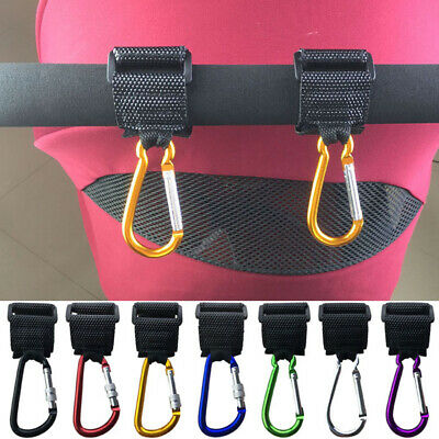 Bag Hooks for Buggy Pushchair Pram Wheelchair Metal Clips Strong Carry