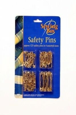 Sewing Box - Safety Pins – Gold Approx. 125 Safety Pins in 4 Sizes