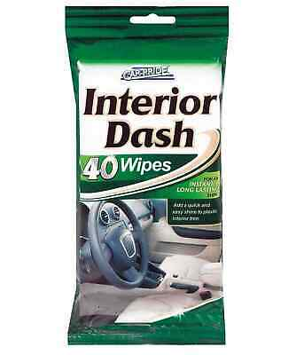 40 Pack Interior Dash Cleaner Wipes Car Dashboard Car Pride Wipes