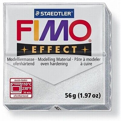 #value! - Fimo Effect Clay Modelling 57g Polymer Silver