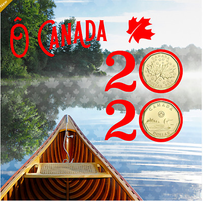 2020 - O Canada Gift 6 coin Set , Specially Struck $1, $2, $1, 25c, 10c, 5c UNC