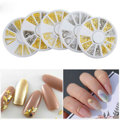 3D Nail Art Rhinestones Rose Gold Metal Crystals Gems Beads Charms Glitter DIY