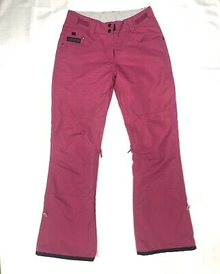 Womens Planet Earth Pink Snow Pants Pre Owned  Size Small