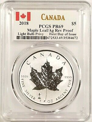 2018 CANADA ~ REVERSE PROOF MAPLE LEAF ~ PCGS PR69 ~ FREE SHIPPING GS