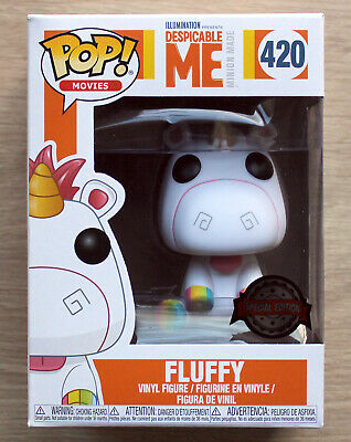 Fluffy With Rainbow Feet Funko Pop Vinyl Despicable Me Special Edition Exclusive