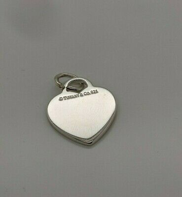 Tiffany & Co. Sterling Silver Plain Heart Tag Charm Pendant