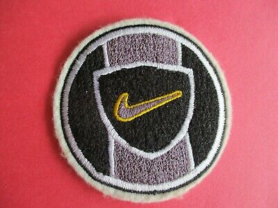 Nike Swoosh on Grey and Black Background - New Iron-On Patch
