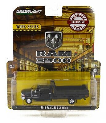 1:64 GreenLight *WORK SERIES* BLACK 2018 RAM 3500 DUMP TRUCK Dually *NIP*