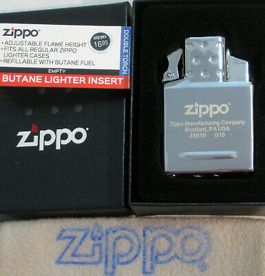 ZIPPO  BUTANE Lighter INSERT Empty DOUBLE TORCH 65827 Push Button NEW 2019