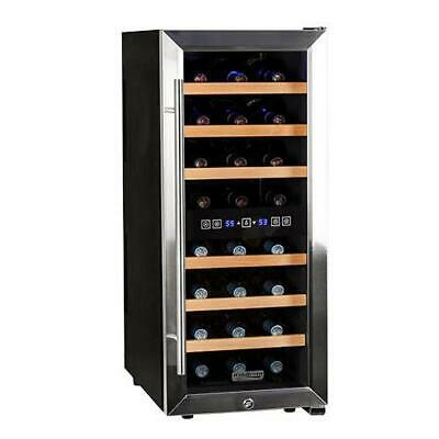 "Koldfront TWR247E 14""W 24 Bottle Wine Cooler - Stainless Steel"