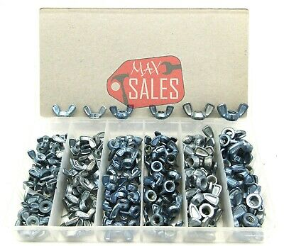 150pc WING NUT FASTENERS HARDWARE SHOP GARAGE ASSORTMENT 6 SAE SIZES