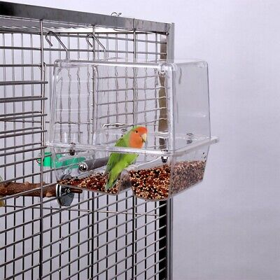Pet Bird Seed Feeder Parrot No Mess Toys Canary Cockatiel Finch Tidy Corral
