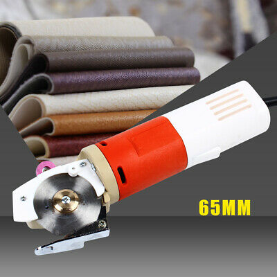 110V Electric Round Knife Cloth Fabric Cutter 65mm Blade Cutting Machine USA