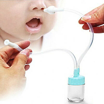 Kids Safety Nasal Mucus Runny Aspirator Nose Cleaner Vacuum Suction Healthy HK2