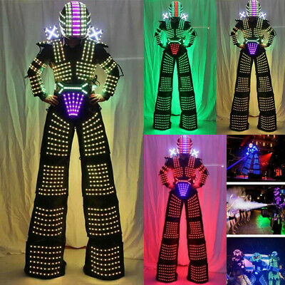 LED Robot Costume Suit Illuminated Party Night Cool Show Night Lights