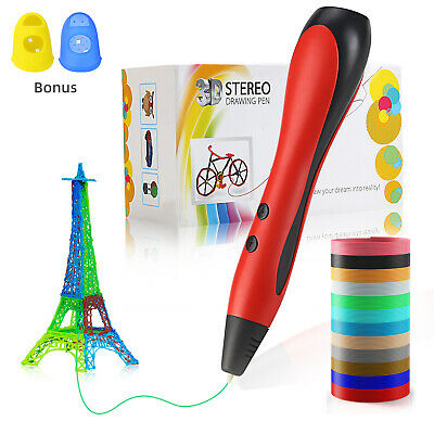 Kids 3D DIY Printing Drawing Pen Crafting Modeling Filament Arts Printer Tool