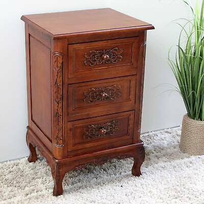 International Caravan Windsor Hand-carved Wood End Table Brown Mini, Extra Large