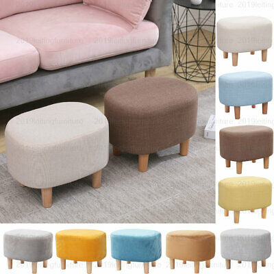 Footstool Footrest Ottoman Pouffe Table Seat Stool Chair Cushion Padded Oval
