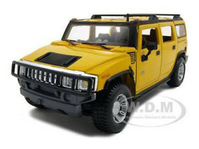 2003 Hummer H2 Suv Yellow 1/27 Diecast Model Car By Maisto 31231