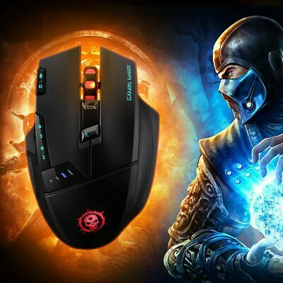 Mpow Wireless Optical 4000DPI Gaming Mouse Mice 7 Buttons 3 LED Colors for Win M