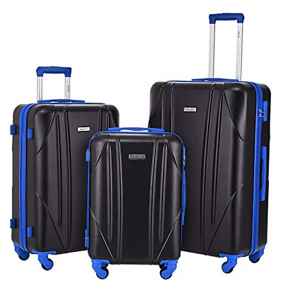 Luggage Sets 3 Pieces Suitcase Spinner Wheels Hard shell Light weight luggage