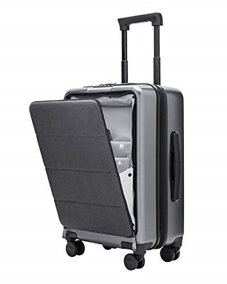 Carry On Luggage Spinner Wheels Lightweight Hardshell Suitcase with Front Pocket