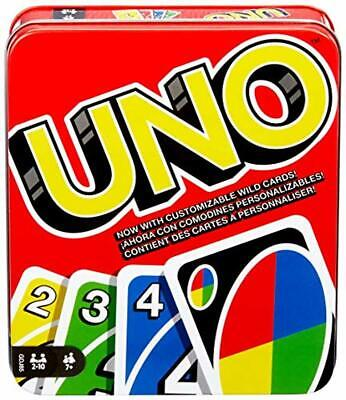 Mattel Games UNO for family : Classic (Tin Box)
