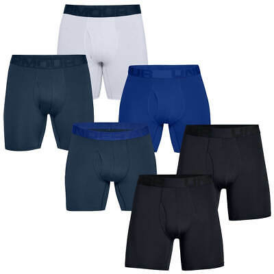 Under Armour Mens 2020 Tech Mesh 4-Way Stretch 6In 2 Pack Boxer Briefs