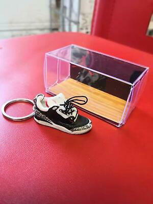 Air Jordan 3 Cement Red Retro 3D MINI SNEAKER KEYCHAIN Figure + GIFT Box
