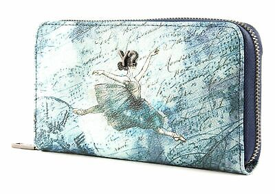 Y NOT ? Ballet Wallet Zip Around Blue