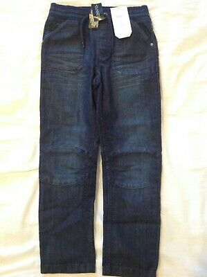 Boys Age 7 Dunes Pull On Style Dark Denim Jeans BNWT