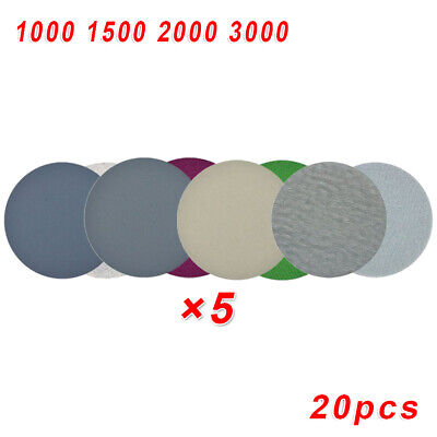 Plastic Sanding papers Woodworking Disc Circular 1000-3000Grit Silicon Carbide