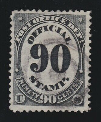 US O56 90c Post Office Department Official Used w/ Bullseye Cancel VF SCV $25