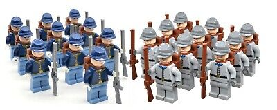American Civil War North South Troop Soldier Army Minifigure LEGO Compatible