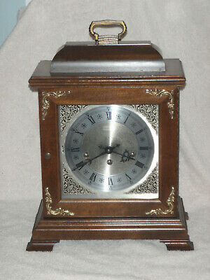 Hamilton Mantel Clock 8 Day Key Wound Westminster Chime Wheatland Model NICE!
