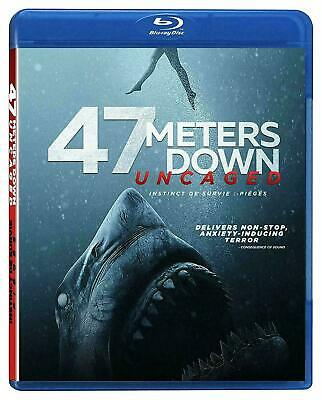 47 Meters Down UNCAGED- Blu-Ray ONLY with case/artwork / No dvd, digital, slip
