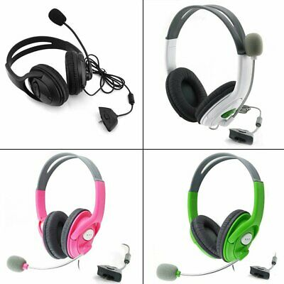 Gaming for XBOX 360 Headphone Over Ear Live Stereo Headset with Microphone NC