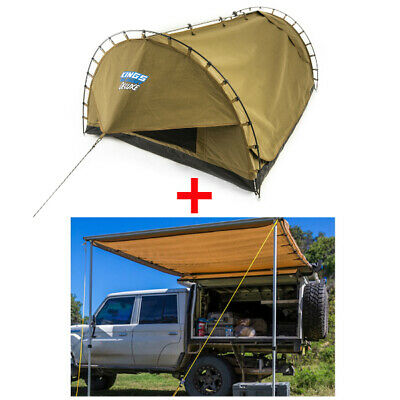 Adventure Kings 'Big Daddy Deluxe' Double Swag +Awning 2x3m