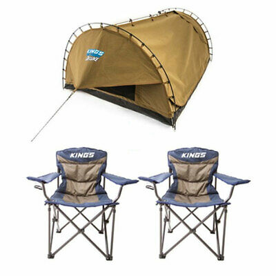 Kings Double Swag Big Daddy Deluxe + 2 x Adventure Kings Throne Camping Chair