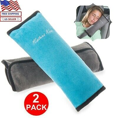 2 Pack Seat Belt Pillow Pad Headrest for Kid Travel Soft Neck Support Child Car