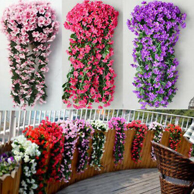 Artificial Fake Hanging Flowers Vine Plant Home Garden Indoor Outdoor Decor AV