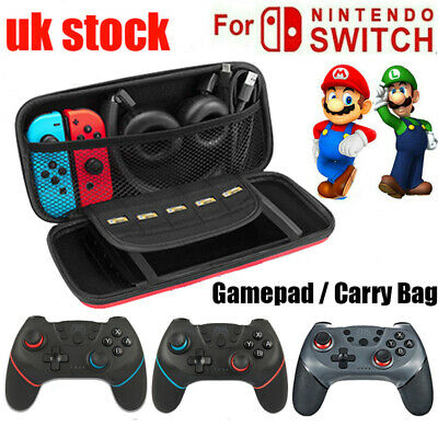 For Nintendo Switch LITE Hard Carry Case Bag,Bluetooth Wireless Gamepad Joystick